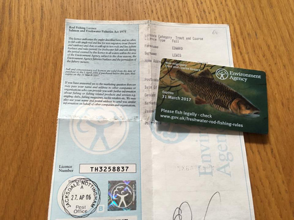 A UK Fishing Licence